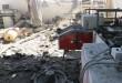 أثار غارات شنتها طائرات العدوان السعودي على مصنع لشركة الكبوس التجارية بصنعاء (ارشيف ـ المستقل)