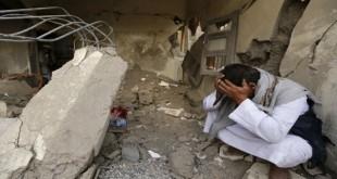 آثار غارات شنها طيران العدوان السعودي على منازل العام الماضي (ارشيف ـ المستقبل)