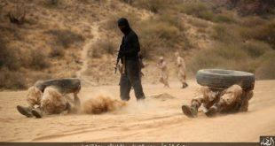 """جانب من تدريبات مسلحي تنظيم """"داعش الارهابي"""""""